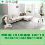 Base di sofà di cuoio italiana del sofà sezionale moderno bianco dell'ufficio