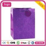 Bolsas de papel revestidas del regalo de la manera de juguete del arte púrpura del almacén