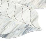 Tuile de mosaïque en verre grise de seule de type d'art mosaïque de mur