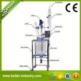 Réacteur en verre 5L de laboratoire avec le condenseur à reflux