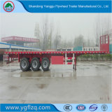 Fuwa 차축 이중성 타이어를 가진 반 40FT 12.5m 평상형 트레일러 3 차축 화물 수송기 트레일러