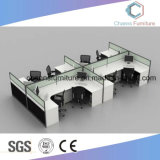 Asiento de seis estaciones de trabajo Partititon oficina modular de aluminio con armario (CAS-W1887)