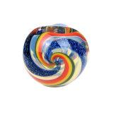 Tubo de cristal de cristal puro de cristal de la cuchara de la raya azul del tubo de la mano del tabaco de tubo de agua del tubo de cristal