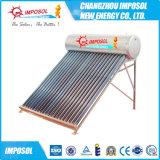 não calefator de água solar de aço galvanizado pressão da câmara de ar de vácuo 300L