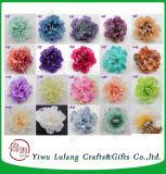 高品質の結婚式の壁の人工絹のビロードのローズの頭状花