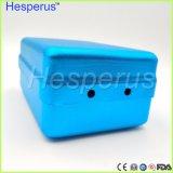 180 orificios Denshine Hesperus titular de la autoclave Dental Bur azul Caja de desinfección