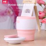 Tasse de café pliable de silicones de catégorie comestible de Traval de quatre couleurs