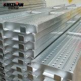Andamio de acero de la INMERSIÓN caliente/de aluminio galvanizado de la construcción de los tablones