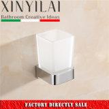 Moderno alemán de latón macizo cromado porta vasos para accesorios de baño