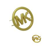 Plaque signalétique faite sur commande plaquée par or d'étiquettes nommées en métal d'étiquette de logo en métal pour des sacs