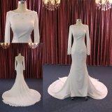 Отбортовывать поезд платья венчания втулки Mermaid шнурка сатинировки длинний длинний