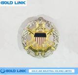 Emblema feito sob encomenda do emblema do metal do Pin do chapéu militar do emblema de tampão da marinha