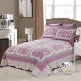 Vier-Stück Bettwäsche-gesetzte purpurrote Farben-Bettdecke