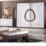 Спальне двуспальная кровать в спальне классическая мебель (6602)