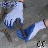 Nmsafety Latex de caoutchouc naturel Construction enduits PPE Gant de travail de la sécurité