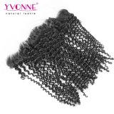 Yvonne Malaysian Kinky Curly Puntilla cierre frontal de 13,5 x 4