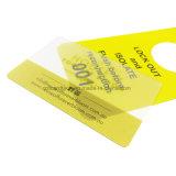 QrコードのBusniessのプラスチック明確なカードか透過名刺