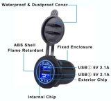 이중 USB 충전기 소켓 전원 출구 빠른 책임 접합기 5V 4.2A