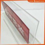 顧客用名刺のホールダーアクリル 机の立場のための印のホールダー