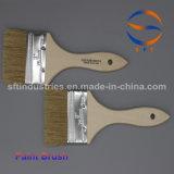 '' pinceau pur de cheveu de porc du traitement 3 en bois mince