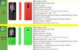 Мобильному телефону 3300 функции мобильного телефона с Whatsapp четырехдиапазонный GSM