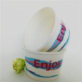 Papel de sorvete Cup com tampa para Creme de gelo