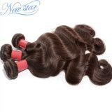 Оптовые дешевые человеческие волосы девственницы объемной волны Brown бразильские