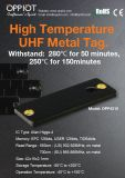 280 C в течение 50 минут до высокой температуры в диапазоне УВЧ метки металла.