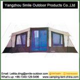 Barraca quadrada de acampamento da parte superior do telhado da casa da família do turismo