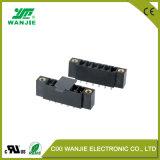 고전압 높은 현재 Wj15edgvc Thr 3.5/3.81 의 피치 3.5/3.81mm를 가진 PCB 끝 구획 검정 Pluggable 연결관