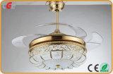 52 het Licht van de Plafondventilator van de duim Met de Lampekap van de Vorm van Lotus voor Schemerigere Schakelaar van de Controle van de Ventilator van de Markt van de V.S. de Lichte