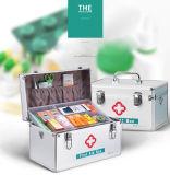 Les premiers soins et des fournitures médicales d'urgence de la boîte de rangement métallique verrouillable