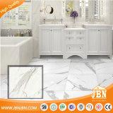 Carrara Super White piedra de mármol de suelo del revestimiento de porcelana (JM88067D)