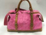 Senhora Fashion Lona Encerada Duffle Bag para viajar ou Touring