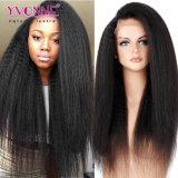 Parrucca diritta crespa della parte anteriore del merletto dei capelli del Virgin dell'essere umano di Yvonne 100%