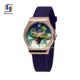 LadiesのためのColorful環境に優しいOEM Design Printing Dial Silicone Watch