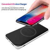 Qi стандарта 10W быстрый беспроводной зарядки Банка питания зарядного устройства для iPhone