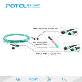 El PVC/MPO LSZH/MPO-LC OM3 de fibra óptica Om4 Puente conector de cable de conexión de cable de comunicación