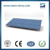 De gegalvaniseerde het Opzetten van het Dak van het Staal en van het Aluminium Vlakke ZonneSteunen van het Systeem