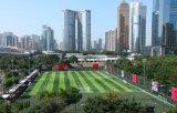 Erba artificiale del diamante della fibra durevole di figura per il campo di calcio