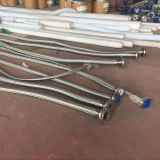 Gli ss collegano a canna liscia elettricamente Braided/hanno ondulato il tubo flessibile di PTFE/Teflon con la flangia