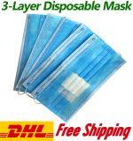 Wegwerpmasker, stofmasker, niet-Woven Plus-doek met 3 lagen, gesmolten