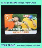 O cartão de identificação inteligente de plástico RFID usados pelos alunos, funcionários, pessoas como o cartão de identificação