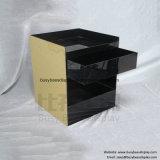 Квадратного акрилового бруска ночь таблица с Черной акриловой шпона ящиками