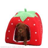 Weiche Hundehaus-Erdbeere-Form-nettes Haus-Haustier-Haus-Haustier-Zubehör