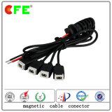 2 pines del conector del cable magnético para el pegado la luz
