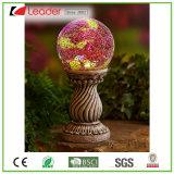 De modieuze Zonne het Staren Coloum van de Hars Bal voor de Decoratie van de Tuin, OEM ZonneBeeldhouwwerk wordt ingestemd met