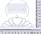 Diadema d'argento di plastica del pettine della festa di compleanno