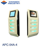 Winnsenの壁の台紙のデジタル4個のロッカーが付いている小さい携帯電話充満端末APC-04A-4