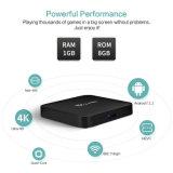 Neuer Android 2018 Fernsehapparat-Kasten Tx3 PRO mit Amlogic S905X 1GB RAM/8GB ROM-gesetztem Spitzenkasten Kodi voll einprogrammiert Support 4K 1080P WiFi, BT